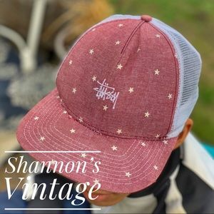 ea00ee57d7f Stussy stars design trucker cap